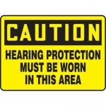 """Accuform MPPE434XF, Sign """"Hearing Protection Must Be Worn in This …"""""""