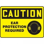 "Accuform MPPE435VA, Aluminum Sign ""Caution – Ear Protection Required"""