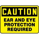 """Accuform MPPE436XP, Sign """"Caution – Ear and Eye Protection Required"""""""