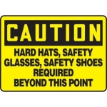 "Accuform MPPE441XT, Sign ""Hard Hats, Safety Glasses, Safety Shoes …"""