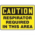 """Accuform MPPE442VP, Sign """"Caution – Respirators Required in This Area"""""""