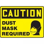 """Accuform MPPE445XF, Sign """"Caution – Dust Mask Required"""""""