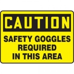 """Accuform MPPE449XF, Sign """"Safety Goggles Required in This Area"""""""