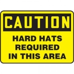 """Accuform MPPE459XT, Sign """"Caution – Hard Hats Required in This Area"""""""