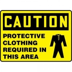"""Accuform MPPE464XT, Sign """"Protective Clothing Required in This Area"""""""
