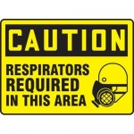 "Accuform MPPE465XF, Sign ""Respirators Required in This Area"""