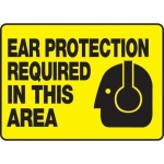 """Accuform MPPE512VS, Vinyl Sign """"Ear Protection Required in This Area"""""""