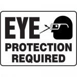"Accuform MPPE531VA, Aluminum Safety Sign ""Eye Protection Required"""