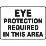 """Accuform MPPE532VS, Vinyl Sign """"Eye Protection Required in This Area"""""""