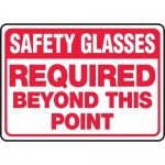 "Accuform MPPE535VA, Sign ""Safety Glasses Required Beyond This Point"""