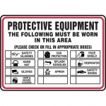 """Accuform MPPE537VS, Sign """"Protective Equipment The Following Must …"""""""