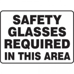 """Accuform MPPE540XT, Sign """"Safety Glasses Required in This Area"""""""