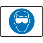 """Accuform MPPE545VS, Adhesive Vinyl Sign """"Eye Protection Symbol"""""""