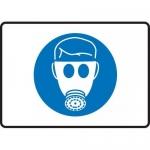 "Accuform MPPE547XL, Aluma-Lite Sign ""Breathing Apparatus Symbol"""