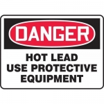 "Accuform MPPE554VS, Vinyl Sign ""Hot Lead – Use Protective Equipment"""