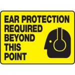 """Accuform MPPE559XT, Sign """"Ear Protection Required Beyond This Point"""""""