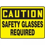 "Accuform MPPE602VA, Aluminum Sign ""Caution – Safety Glasses Required"""