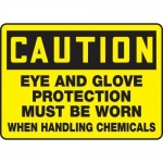 """Accuform MPPE603VS, Sign """"Eye and Glove Protection Must Be Worn…"""""""
