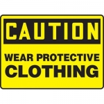 """Accuform MPPE612VS, Vinyl Sign """"Caution – Wear Protective Clothing"""""""