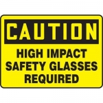 """Accuform MPPE614XT, Sign """"High Impact Safety Glasses Required"""""""