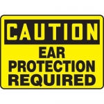 """Accuform MPPE616VA, OSHA Sign """"Caution – Ear Protection Required"""""""