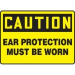 """Accuform MPPE617XP, Sign """"Caution – Ear Protection Must Be Worn"""""""