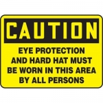 """Accuform MPPE621XT, Sign """"Eye Protection and Hard Hat Must Be Worn…"""""""
