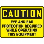"Accuform MPPE628VS, Sign ""Caution – Eye and Ear Protection …"""