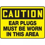 """Accuform MPPE630XP, Sign """"Ear Plugs Must Be Worn in This Area"""""""