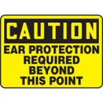 """Accuform MPPE631XT, OSHA Sign """"Ear Protection Required Beyond…"""""""