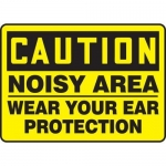 """Accuform MPPE644XP, Sign """"Noisy Area – Wear Your Ear Protection"""""""