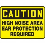 """Accuform MPPE652XP, Sign """"High Noise Area – Ear Protection Required"""""""