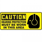"""Accuform MPPE654XL, Sign """"Hearing Protection Must Be Worn in This …"""""""