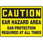 """Accuform MPPE656XP, Sign """"Ear Hazard Area Ear Protection Required…"""""""