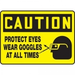 """Accuform MPPE658XL, Sign """"Protect Eyes – Wear Goggles at All Times"""""""