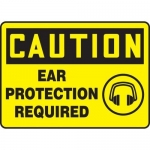 """Accuform MPPE664VS, Adhesive Vinyl OSHA Sign """"Ear Protection Required"""""""
