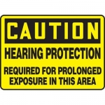 """Accuform MPPE671VS, Sign """"Caution – Hearing Protection Required…"""""""