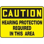 """Accuform MPPE675XT, Sign """"Hearing Protection Required in This Area"""""""
