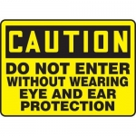"""Accuform MPPE680XL, Sign """"Do Not Enter Without Wearing Eye and …"""""""