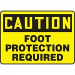 """Accuform MPPE688VS, Vinyl Sign """"Caution – Foot Protection Required"""""""