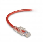 BlackBox C6PC70-RD-07, 7′ CAT6 550-MHz Lockable Patch Cable (UTP), Red