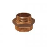 Dixon Valve DMH7515, Brass Double Male Hex Nipple