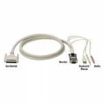 BlackBox EHN485A-0010, ServSwitch USB Coax CPU Cables with Audio, 10′