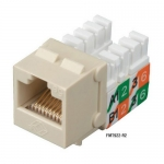 BlackBox FMT922-R2-25PAK, CAT5e Jack, Universal Wiring, Ivory, 25 pcs