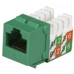 BlackBox FMT924-R2-25PAK, CAT5e Jack, Universal Wiring, Green, 25 pcs
