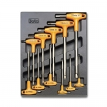 Beta Tools 024240050, T50 Assortment Set of 11 Hexagon Key Wrenches