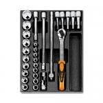 Beta Tools 024240080, T80 Assortment Set of Ratchet, Accessories