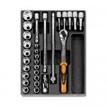 Beta Tools 024240082, T82 Assortment Set of Ratchet, Accessories
