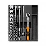 Beta Tools 024240083, T83 Assortment Set of Ratchet, Accessories