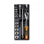 Beta Tools 024240102, T102 Assortment Set of Ratchet, Accessories